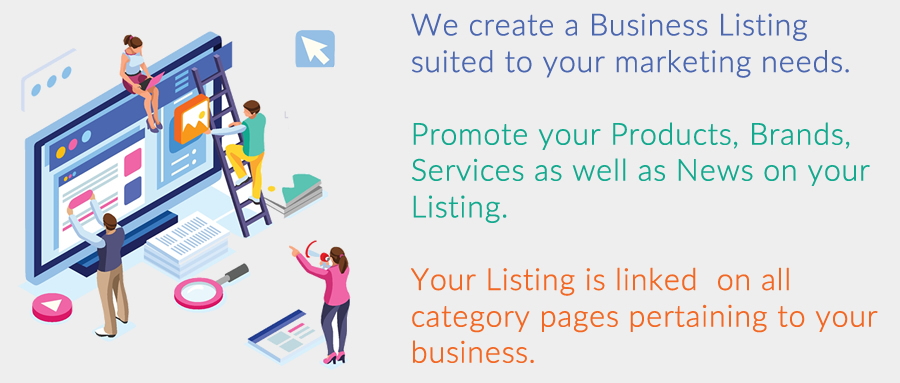 Business Listings to promote your Products, Brands, Services and News